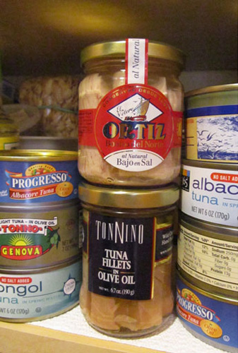 A Selection of Jarred and Canned Tuna