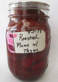 Summer Plums Roasted and Canned