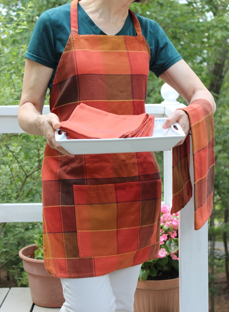 Cotton Apron, Towel and Napkins