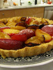 Finished Plum Tart