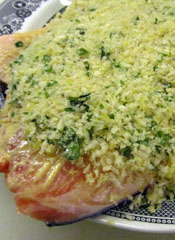 Raw Salmon With Panko Topping