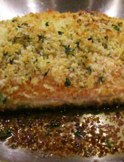 Finished Fish With Browned Panko Crust