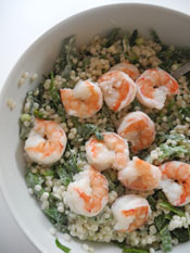 Couscous, Shrimp and Spinach Salad