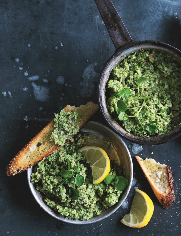 Watercress, Broccoli and Roasted Garlic Pesto